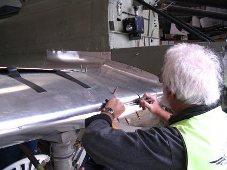 P40 wing root fairing