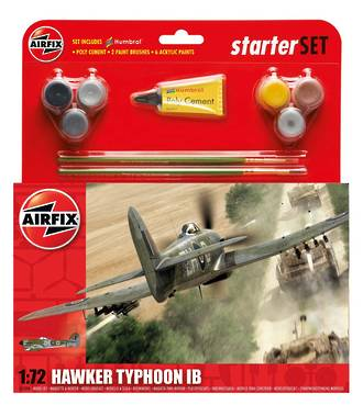 Model - Hawker Typhoon 1B Starter Kit. Airfix